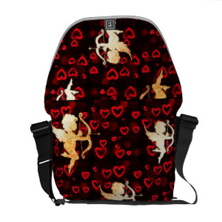 Cupids and Hearts Messenger Bag