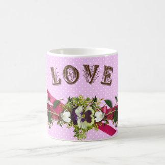Cupids/ángeles del amor de las flores taza de café
