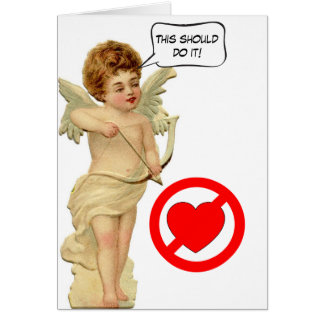 Cupid's Arrow Anti-Valentine Card