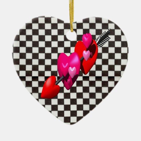 Cupids Arrow Ceramic Ornament