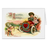 Cupid's Arrow Points at Couple in Car Card