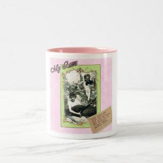 Cupids Arrow Two-Tone Coffee Mug