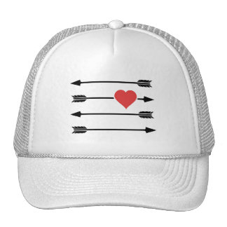 Cupid's Arrow Valentine's Day Heart Mesh Hats