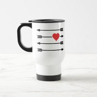 Cupid's Arrow Valentine's Day Heart Mug