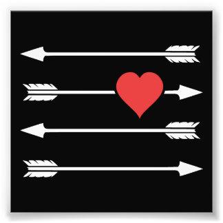 Cupid's Arrow Valentine's Day Heart Photo Print
