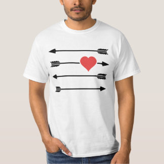 Cupid's Arrow Valentine's Day Heart T-Shirt