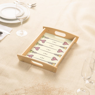 Cupid's Arrows Small Serving Tray