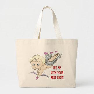Cupid's Best Shot Jumbo Tote Bag