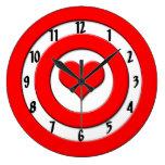 Cupid's Bullseye Round Clocks