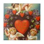 Cupids de la tarjeta del día de San Valentín 3 del Teja Ceramica