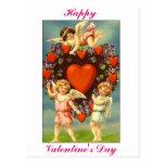 Cupids de la tarjeta del día de San Valentín 3 del Postal