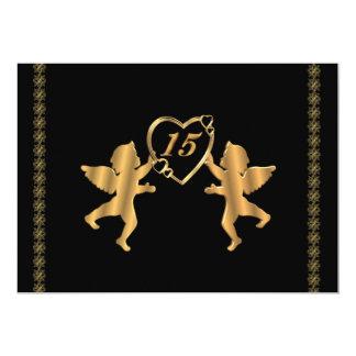 Cupids de Quinceanera para el décimo quinto Comunicados Personalizados