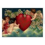 Cupids del Victorian del el día de San Valentín de Tarjeton