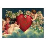 Cupids del Victorian del el día de San Valentín Invitacion Personal