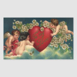 Cupids del Victorian del el día de San Valentín Rectangular Altavoz