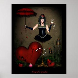 Cupids garden print