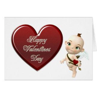 cupids heart card