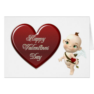 cupids heart greeting card