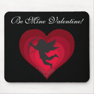 Cupid's Heart Mouse Pad