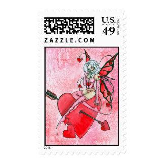 Cupid's Helper Fairy Art Print Postage