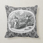 Cupids in a Landscape Antique Engraving Pillows