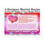 Cupid's Kiss Valentine Martini Recipe Postcard