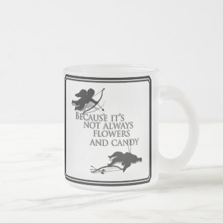 Cupid's Last Duel 10 Oz Frosted Glass Coffee Mug