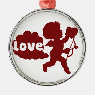 Cupids Love Fart Metal Ornament