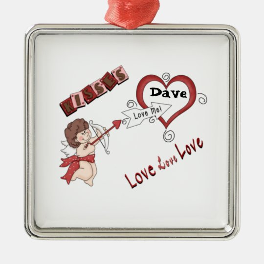 Cupids Love Metal Ornament