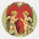 Cupids make a Wish Round Sticker