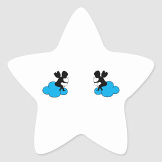 Cupids on Clouds Star Stickers