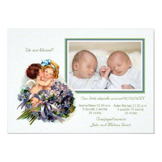 Cupids Photo Birth Announcement