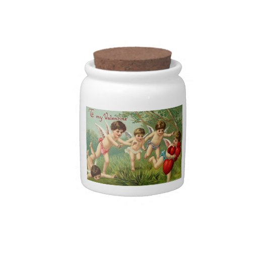 Cupids Playing Candy Jars
