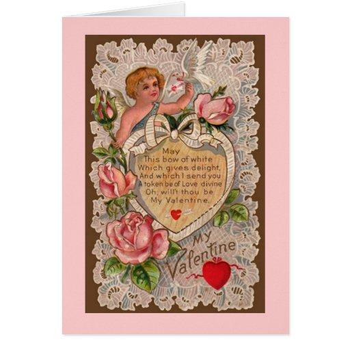 Cupid's Poem Card Greeting Card