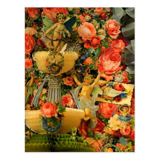 Cupids retros del vintage en tarjeta de la tarjeta postal