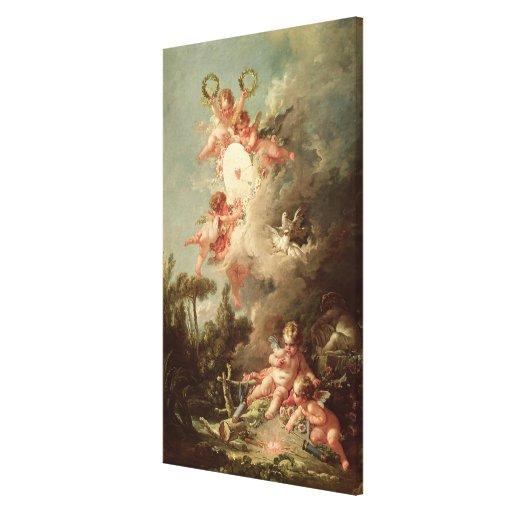 Cupid's Target, from 'Les Amours des Dieux' Canvas Prints