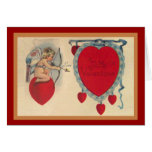 Cupids Valentine Message Greeting Card