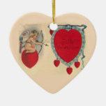 Cupids Valentine Message Ornament