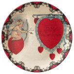 Cupids Valentine Message Porcelain Porcelain Plate