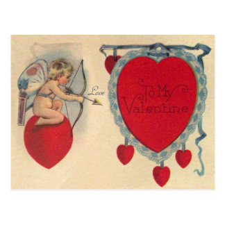 Cupids Valentine Message Vintage Postcard