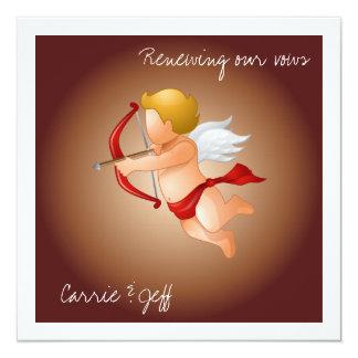 Cupids y su flecha invitación 13,3 cm x 13,3cm