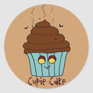 Cupie Cake Classic Round Sticker
