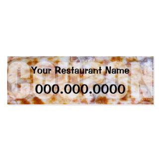 Cupón de la pizza - aliste para modificar para plantilla de tarjeta de visita