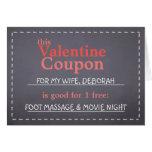 Cupón de la tarjeta del día de San Valentín