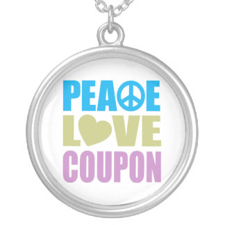 Cupón del amor de la paz collares personalizados