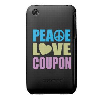 Cupón del amor de la paz Case-Mate iPhone 3 fundas