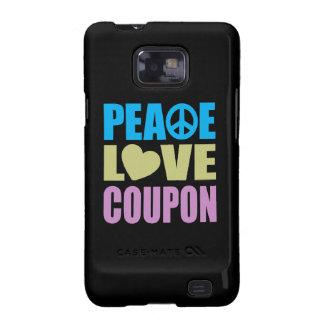 Cupón del amor de la paz samsung galaxy SII carcasas
