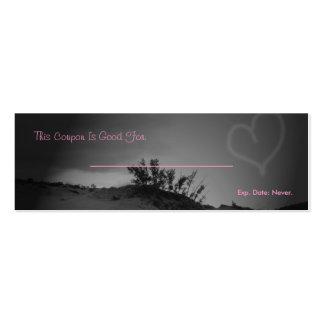 Cupón del amor tarjeta de visita