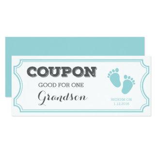Cupón para una invitación del bebé del nieto