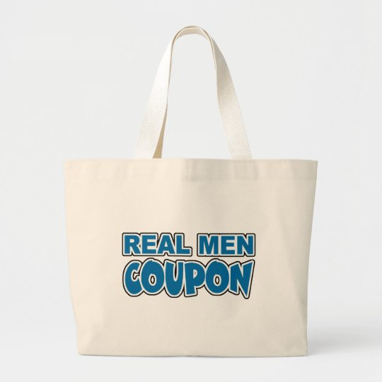 Cupón real de los hombres bolsa de tela grande